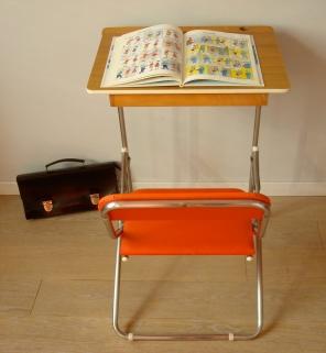 Bureau enfant Skaï orange-40€